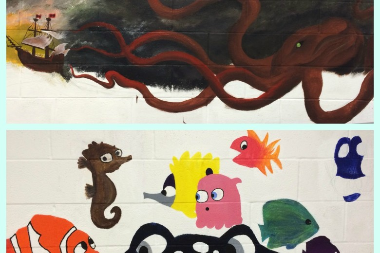 Marine Murals Hit WHB Halls