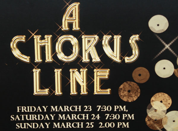 The poster for A Chorus Line