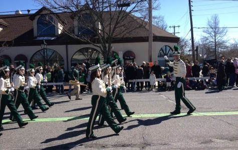 Pep Band Marches in St. Patty's Day Parade