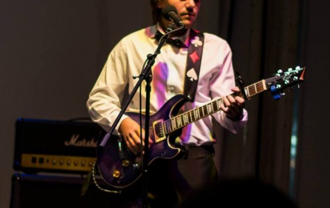 WHBHS senior John Tocco plays with Vintage Penguin at the Southampton Town Battle of the Bands at Ponquogue Beach on September 12, 2014. Vintage Penguin and Tocco's other band, The Entertainment, won second and third place, while Red Tide took first. (Photo: Bill Jackson Photography)