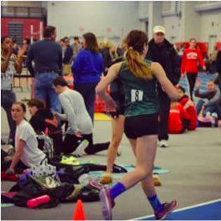 Kelsey Jordan race-walking at States