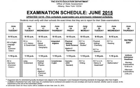 Regents Schedule 2015