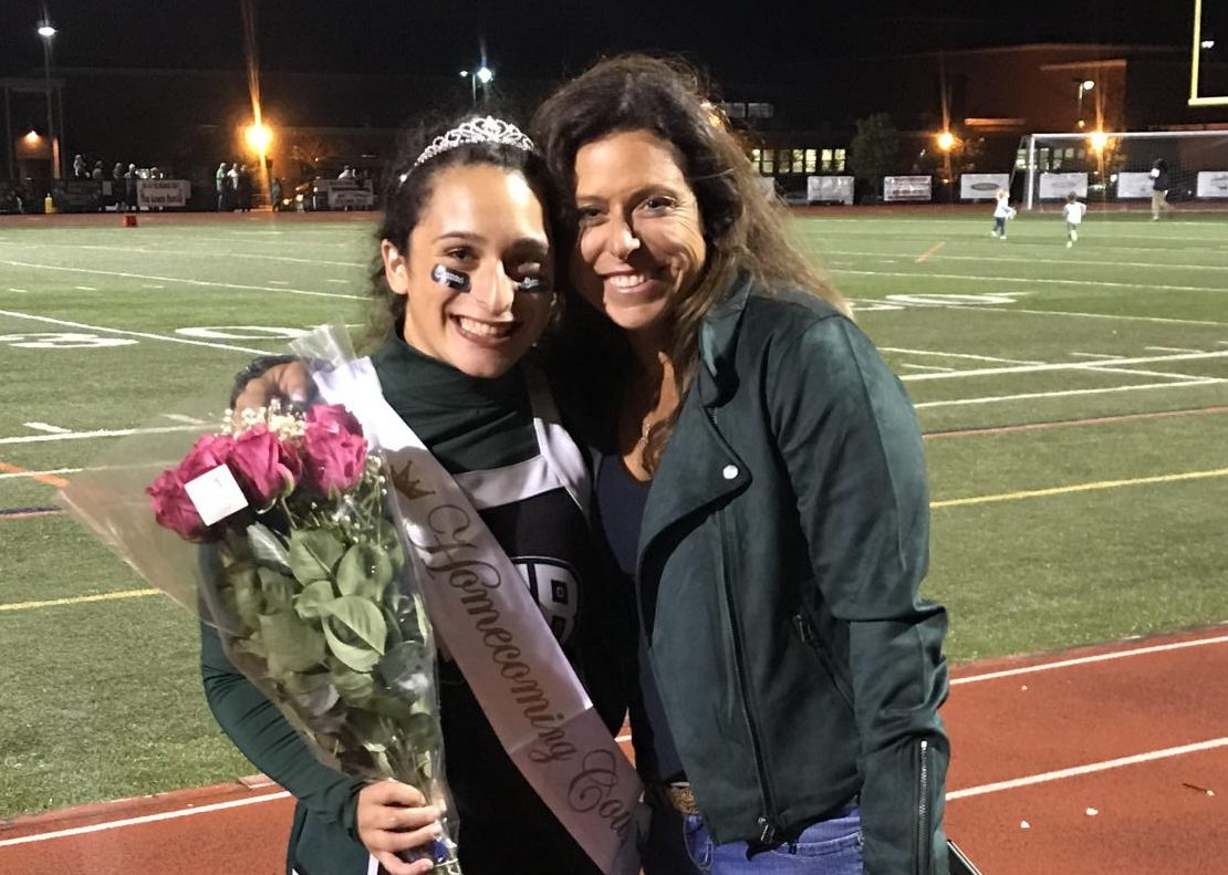 Alexa and her mother at this year's homecoming.