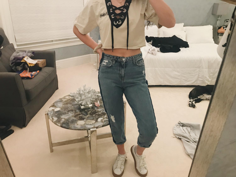 Braelene Owen in her '80s gear