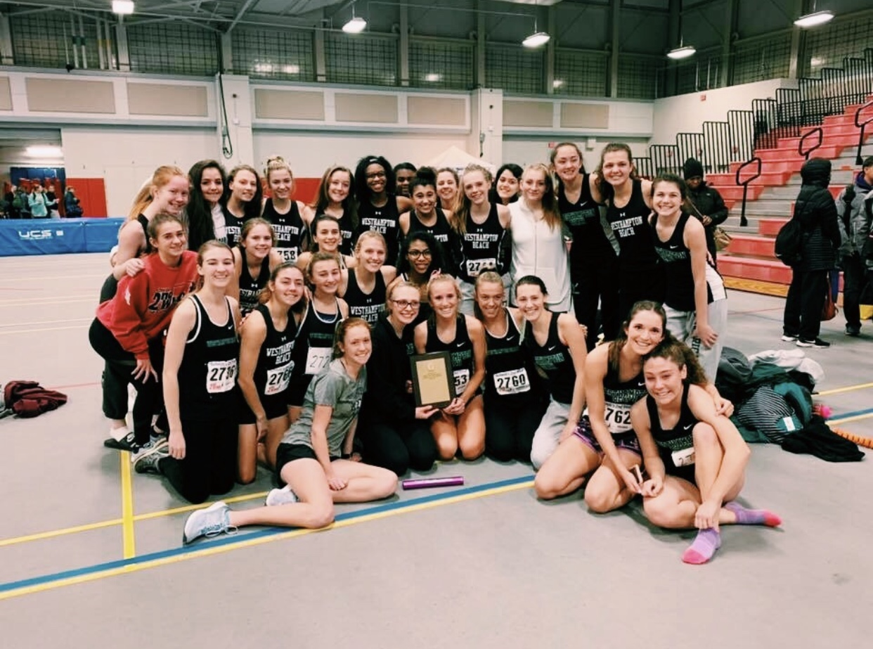 The girls track team win leagues!!