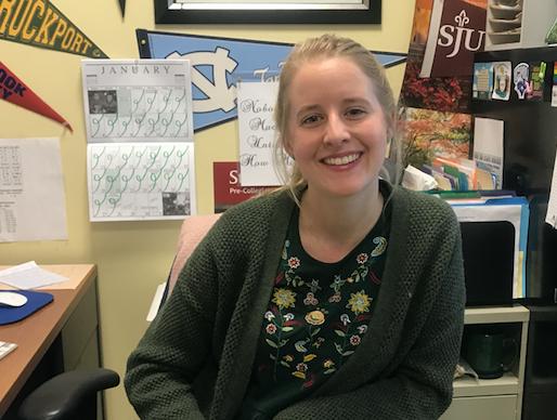 New guidance counselor Ms. Seltzer