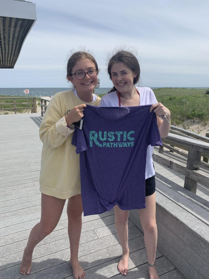 Jane+and+Olivia+with+their+Rustic+T-shirts+that+they+will+wear+this+July%21