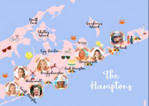 Celebrities in the Hamptons
