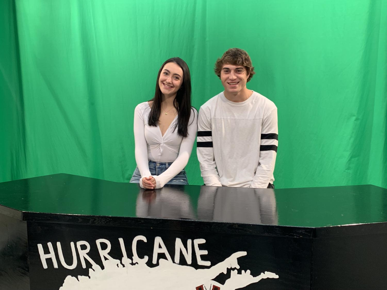 Molly and Jaden, anchors of the first show