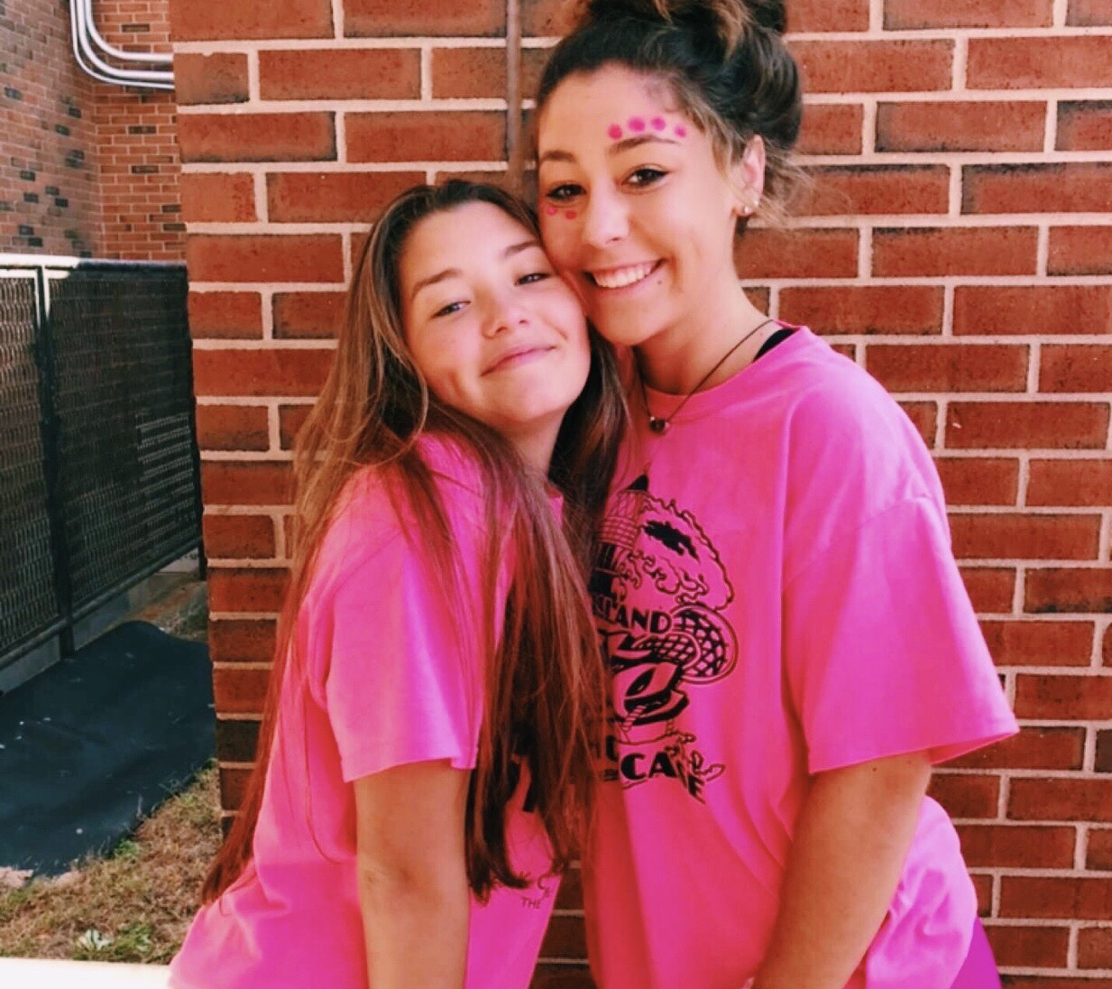 Veronica and Maureen on Pink day 2018.