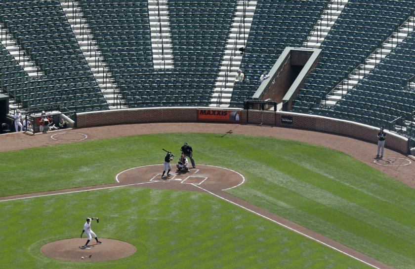 Oriole+Park+at+Camden+Yards+with+no+fans+in+the+seats.