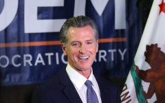 Newsom on the evening of the election